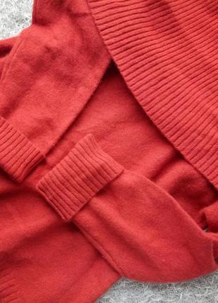 Шерстяной теплый свитер спущенные плечи оверсайз m&co
