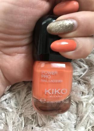Лак для нігтів power pro 08(papaya) kiko milano