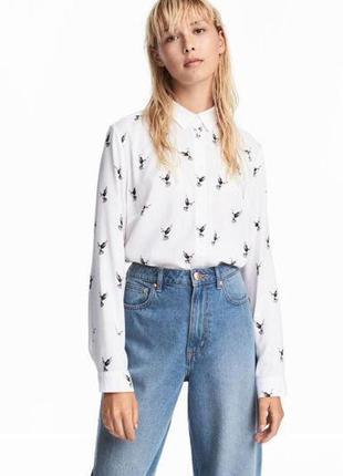 Рубашка h&m размер 40