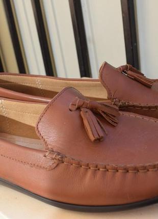 Кожаные туфли лоферы мокасины hotter р.7 1/2 на р.42 27,5