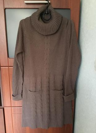 Тёпленькое платьице батал большого размера- 16,наш размер - 50 +