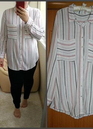 Стильная полосатая рубашка, р. 18-20.