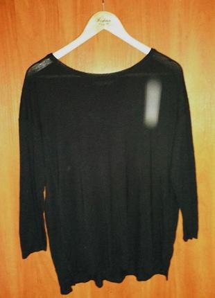 Черный базовый пуловер/ кофта pull&bear