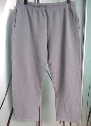 Плотные хлопковые трикотажные штаны большого размера