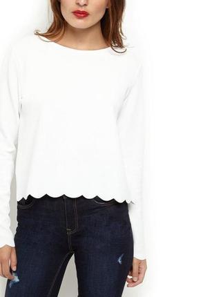 Фактурная блуза с длинным рукавом new look