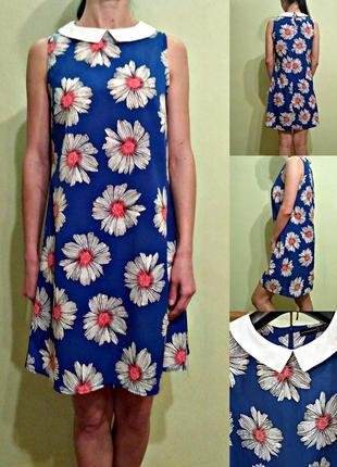 Платье трапеция в ромашки 10