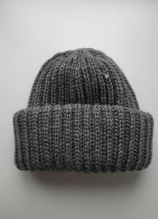 Объемная шапка 50% шерсть, 50% акрил отличного качества!