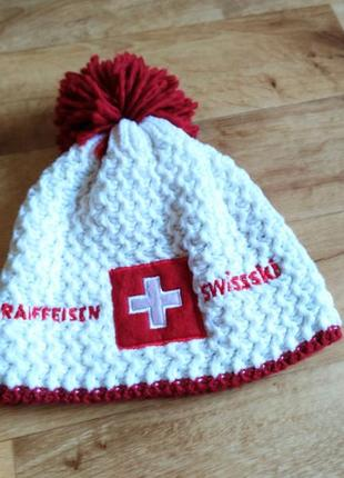 Шапка гірськолижна швейцарія