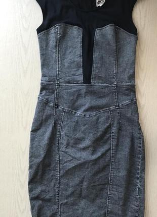 Платье миди по фигуре джинсовое размер s-m