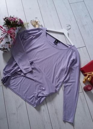 Брендовый лонгслив кофточка оверсайз лавандовый цвет..#00206