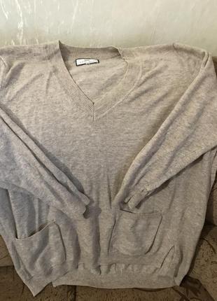 Джемпер большой размер 70процентов шерсть