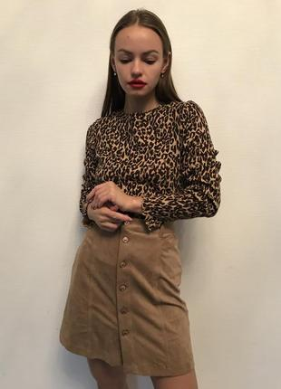 Кофточка леопардовая свитшот свитер