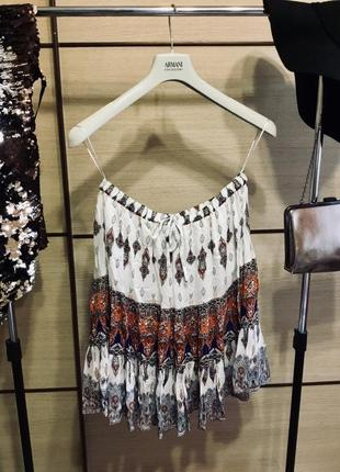 Классная летняя легкая юбка миди с воланами, огромный выбор вещей!!!скидки%%%