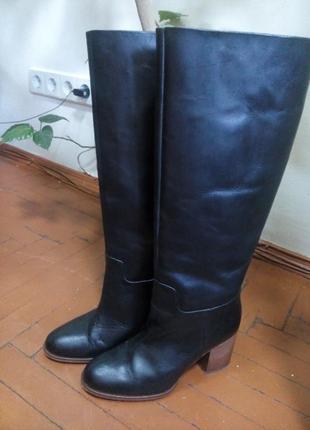 Шкіряні чоботи mango 38р.