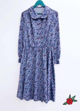 Винтажное платье миди платье на пуговицах стильное платье