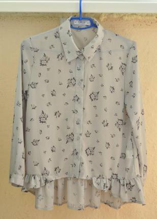 Блуза romwe с цветочным принтом