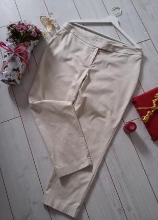 Стильные базовые зауженные брюки высокая посадка...#00292