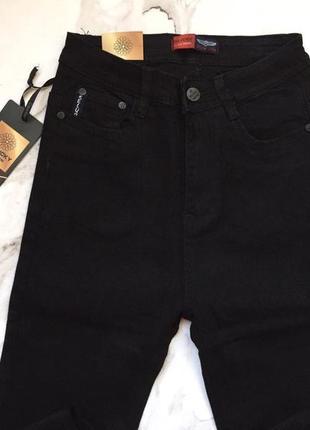 Высокая талия скинни плотный джинс4