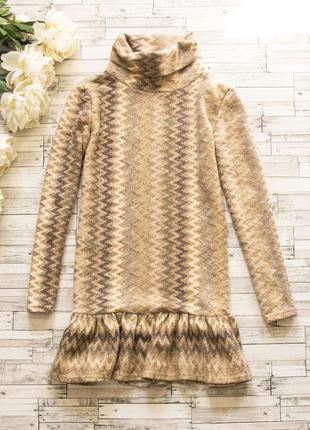 Теплое котоновое платье layers paris