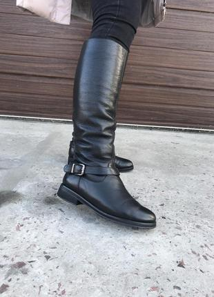 Сапоги кожаные зимние 39 размер италия laura franchi б/у