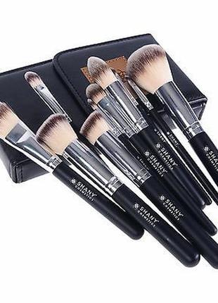 Набор кистей для макияжа shany black ombré pro 10 pc