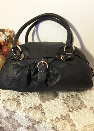 Большая вместительная кожаная сумка шкіряна сумка