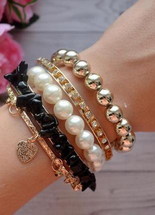 Стильный комплект браслетов 5 шт