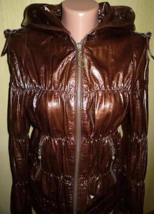 Женская стеганая дутик ,кожаная куртка, натуральная кожа