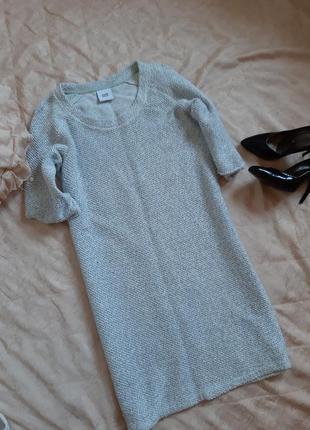 Вязаное платье over size