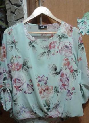 Красивая блуза свободного кроя