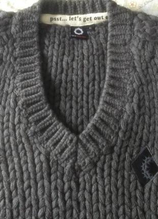 Удлиненный стильный жилет из толстой пряжи с шерстью gsus xl