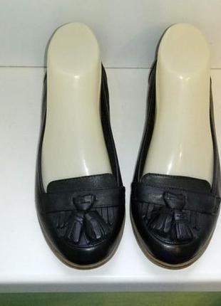 Туфли лоферы кожаные clarks, р. 36,5-37.