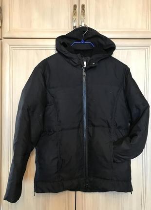 Теплая  курточка пух/перо с капюшоном next 10-12рр