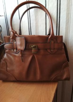 Фирменная новая винтажная сумка   next  экокожа