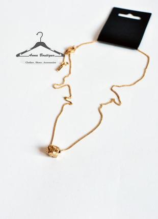 Элегантное позолоченное ожерелье цепочка с подвесом колье pilgrim