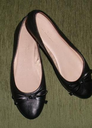 Аккуратные кожаные балетки туфли мокасины next /р 40 (26 см)