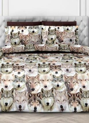 Зов предков - постельное белье с волками, 3d эффект. поплин 100 хлопок