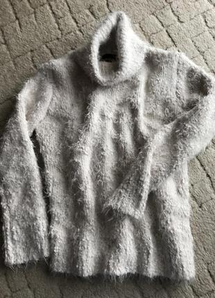 Тёплый свитер травка пушистый zara