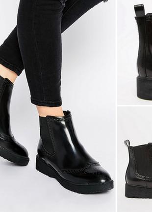 Стильные кожаные ботинки челси aldo