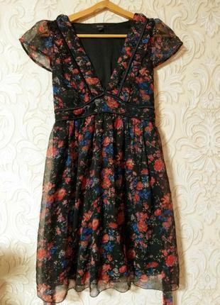 Нежное шифоновое платье с подкладом uk 10-12 наш 44-46   смотрите описание
