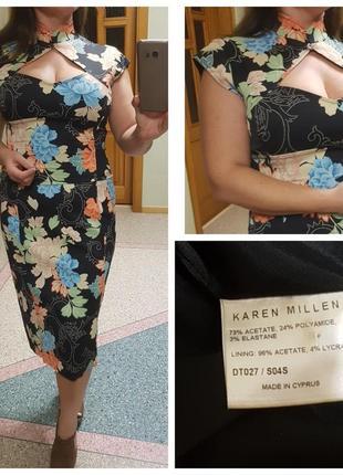 Шикарное силуэтное платье с воротником karen millen