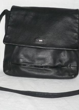 Betty barclay крепкая кожаная сумка мессенджер через плечо кросс боди натуральная кожа