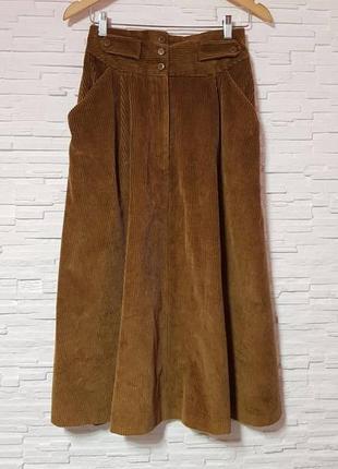 Длинная  вельветовая юбка рубчик next
