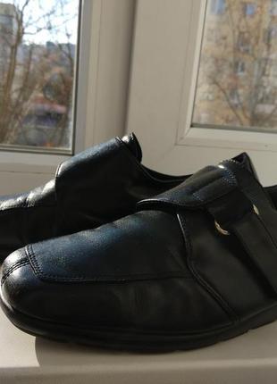 Туфли,мокасины на поъеме, 40р! кожа! молдова!