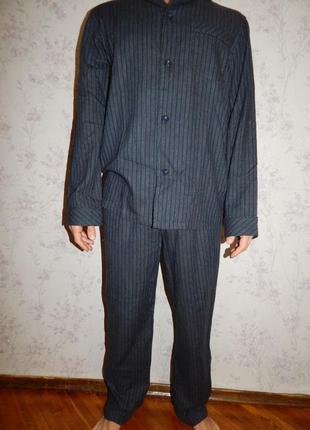 Essentials пижама мужская тонкая байка рубашка со штанишками рм новая