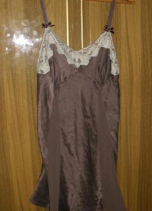 Шелковая ночная рубашка la senza 100% шелк