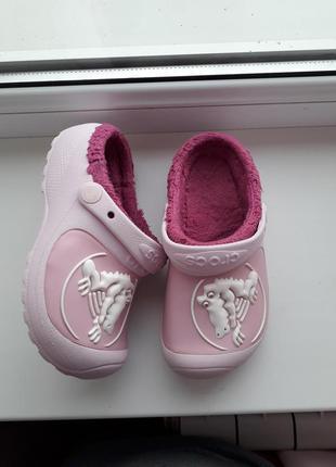 Кроксы/crocs утепленные,для девочки