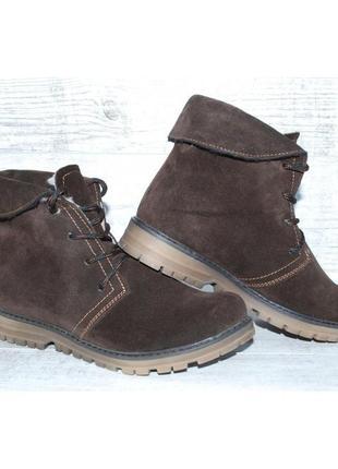 Ботинки зимние женские viva, натуральная замша, натуральный мех, 2 цвета, р-р 36, 38, 39