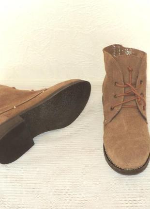 Мягенькие утепленные замшевые ботиночки, португалия, 38 р (24,7 см)2
