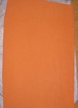 Новое абрикосовое полотенце - настоящий кашемир - 1 метр на 60 см